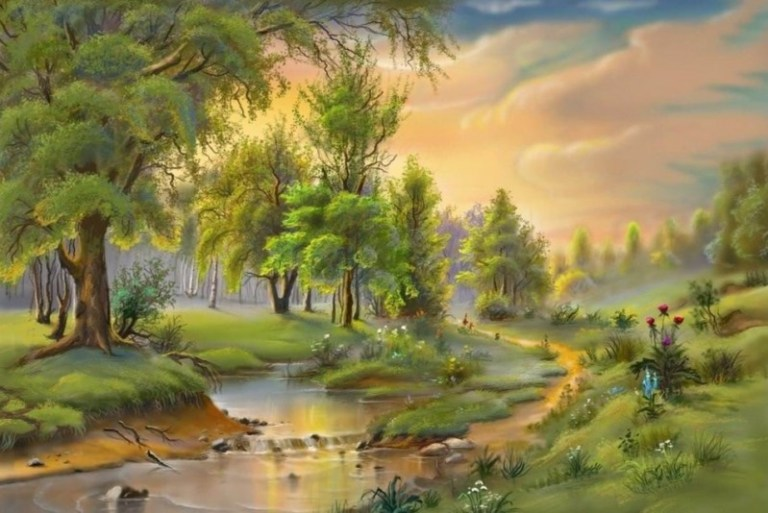 Download 530+ Background Pemandangan Kota Lukisan Terbaik