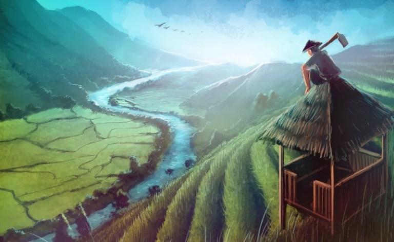 5o Lukisan Dan Gambar Pemandangan Alam Yang Sangat Menginspirasi