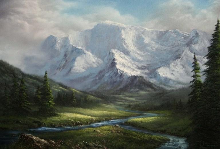 70 Koleksi Lukisan Pemandangan Kaki Bukit HD Terbaik