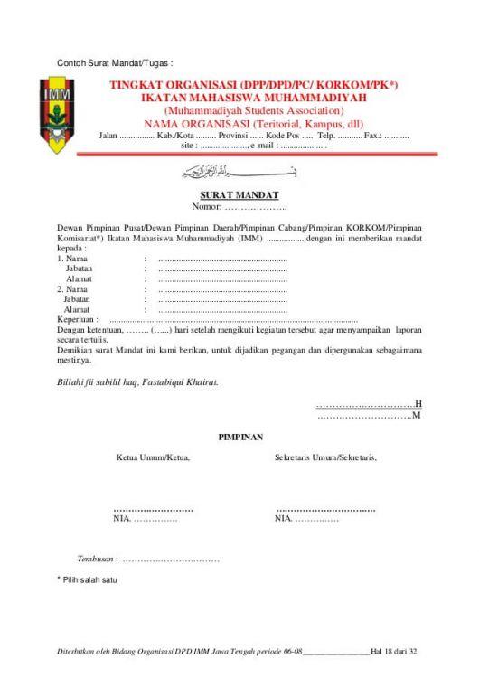 17 Contoh Surat Tugas Resmi Terbaru Dinas Guru Perorangan Mandat