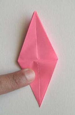 cara membuat origami bunga lily 15