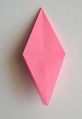 cara membuat origami bunga lily 16