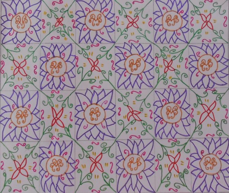 Contoh gambar ragam hias flora 6