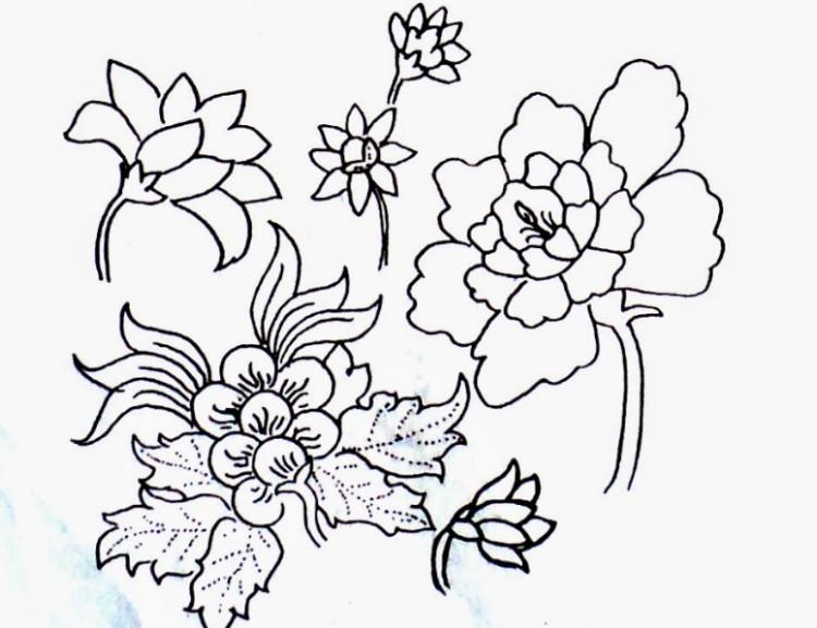 Contoh gambar ragam hias flora 7