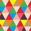 motif geometris warna warni