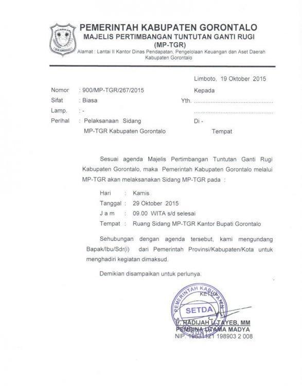 contoh surat dinas kuasa