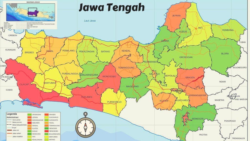 letak provinsi jawa tengah