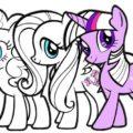 contoh gambar kuda poni yang bisa anda warnai